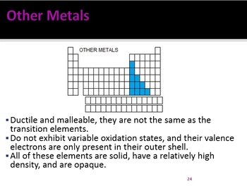 Periodic Table and Periodicity Power Point