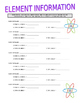 Periodic Table of Elements (2 Worksheets)