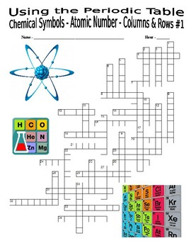Periodic table 3 puzzles chemical symbols atomic number columns urtaz Images