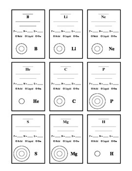 Periodic Table of Elements Worksheet