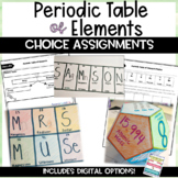 Periodic Table of Elements Choice Assignment Activity
