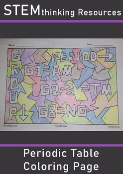 Periodic Table of Elements Color by Number Coloring Page Review