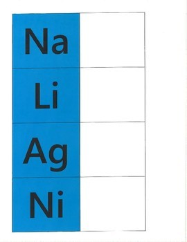 Periodic Table of Elements File Folder Match