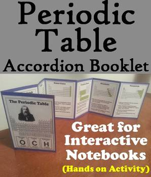 Periodic Table of Elements Foldable: Interactive Notebook Activity