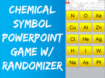 Periodic Table of Elements Game with Slide Randomizer!