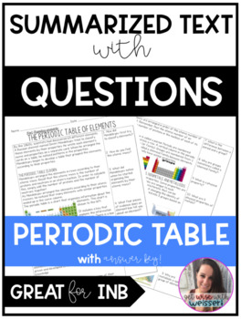 Periodic Table of Elements Guided Text with Questions