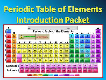 Periodic Table Of Elements Introduction Packets Test Key Webquest More