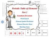Periodic Table of Elements Part 2 Scandium-Zirconium. Work