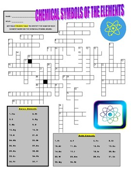 Periodic Table of Elements : Chemical Symbols Puzzle Work