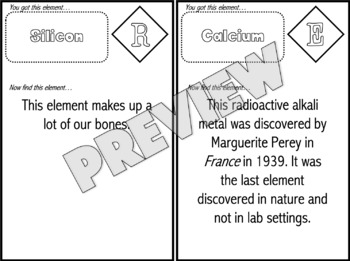 Periodic Table of Elements Question Trail