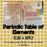 Periodic Table of Elements Reading Comprehension Interactive Notebook