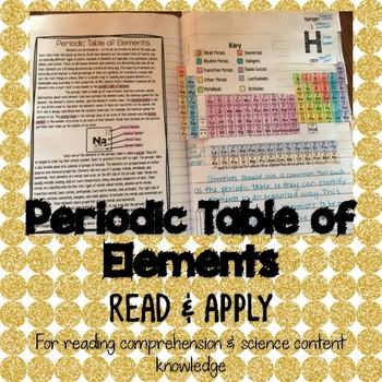 Periodic table of elements reading comprehension interactive notebook urtaz Image collections