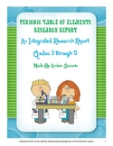 Periodic Table of Elements Research Report for ELA and Science CCSS