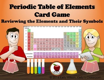 Periodic table of elements card game by kellys classroom tpt periodic table of elements card game urtaz Choice Image