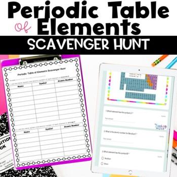 #feelinglucky17 Periodic Table of Elements Scavenger Hunt