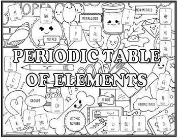 Periodic Table of Elements Seek and Find Science & Research  Project Combo