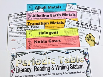 Periodic Table of Elements Student Learning Stations