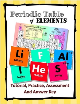 Periodic table of elements worksheets teaching resources teachers periodic table of elements tutorial and quiz compete lesson urtaz Images