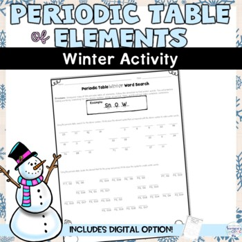 Periodic table of elements winter atomic number activity by samsons periodic table of elements winter atomic number activity urtaz Gallery