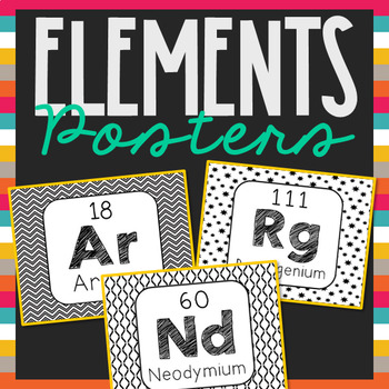 Periodic table of elements word wall terms or flash cards chemistry periodic table of elements word wall terms or flash cards chemistry posters urtaz Choice Image