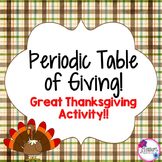 Thanksgiving Science: Periodic Table Activity!