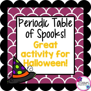 Periodic Table of Spooks. Great for Halloween!