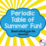 End of Year Science: Periodic Table End of Year Activity