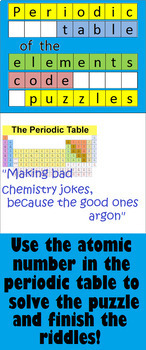 Periodic Table of the Elements Code Puzzle