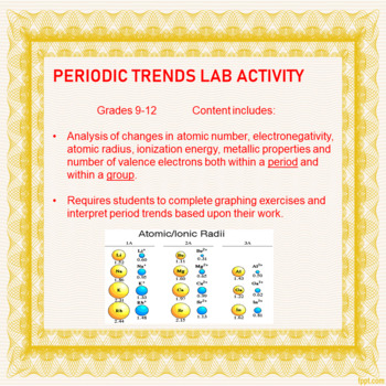 Periodic trends lab activity by buckos science corner tpt periodic trends lab activity urtaz Images