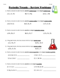 Periodic Trends - Review Problems