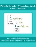 Periodic Trends - Vocabulary Cards