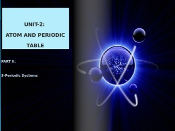 Periodic table and Periodic properties