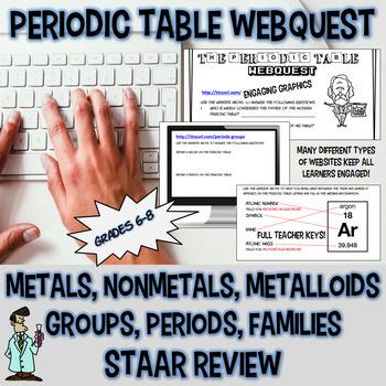 Periodic table webquest metal metalloid nonmetal 7 8 TX TE