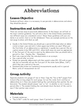 Periods Unit - Punctuation Series