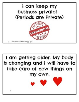 Periods are Private Social Skills Story