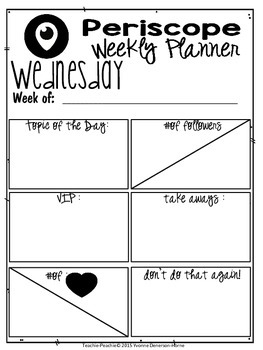 Periscope Weekly Planner