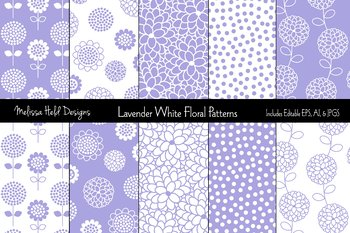Lavender Polka Dot and Patterns