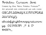 Perkilou Cursive Font
