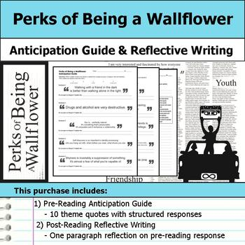 Perks of Being a Wallflower - Anticipation Guide & Reflection