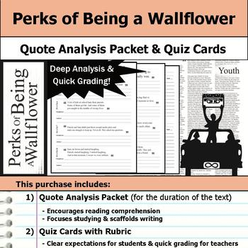 Perks of Being a Wallflower - Quote Analysis & Reading Quizzes