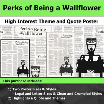 Perks of Being a Wallflower - Visual Theme and Quote Poster for Bulletin Boards