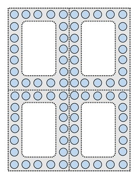 Perky Polka Dots Blue and Dove Gray
