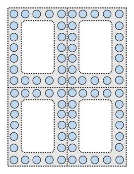 Perky Polka Dots Blue and Dove Gray