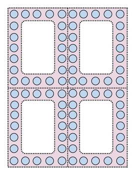 Perky Polka Dots Blue and Lilac