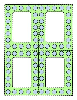 Perky Polka Dots Blue and Lime