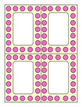 Perky Polka Dots Pink and Cream