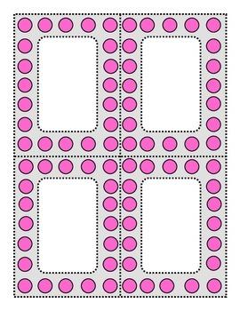 Perky Polka Dots Pink and Dove Gray