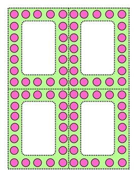 Perky Polka Dots Pink and Lime Green