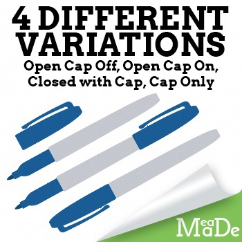 Permanent Marker Clipart Pack