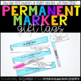 Permanent Marker Gift Tag EDITABLE
